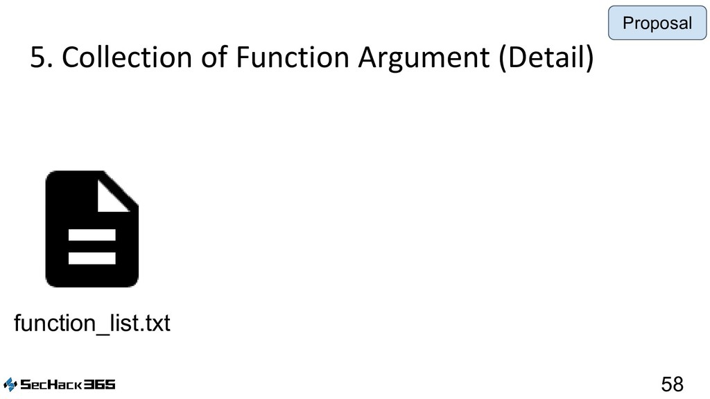 5. Collection of Function Argument (Detail) 58 ...