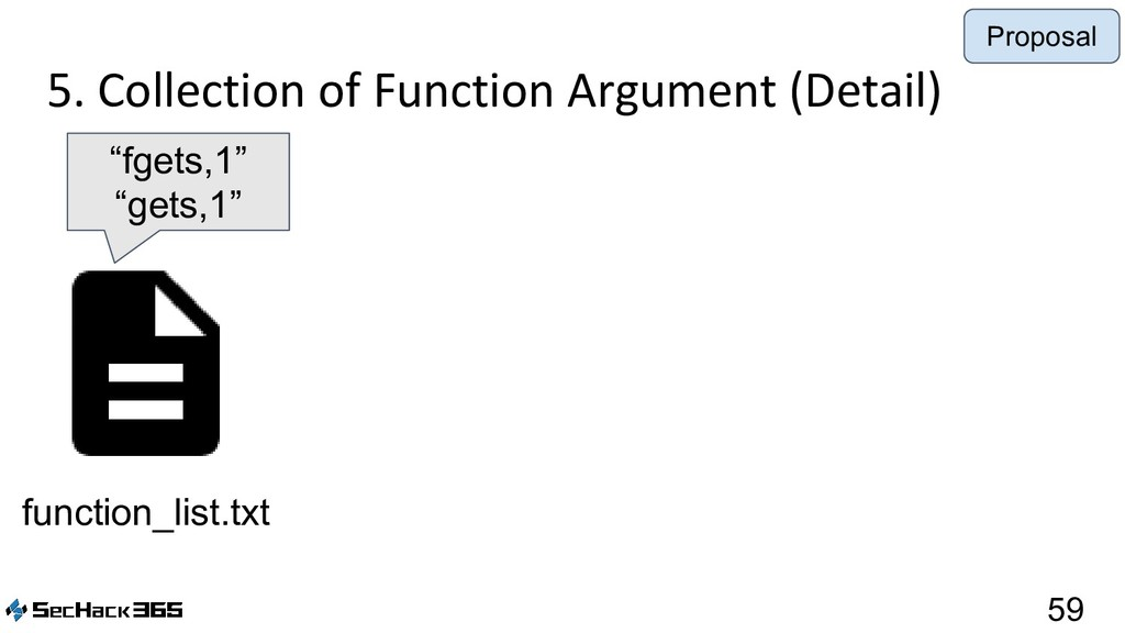 5. Collection of Function Argument (Detail) 59 ...