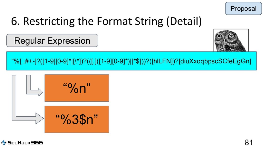"6. Restricting the Format String (Detail) 81 ""%..."