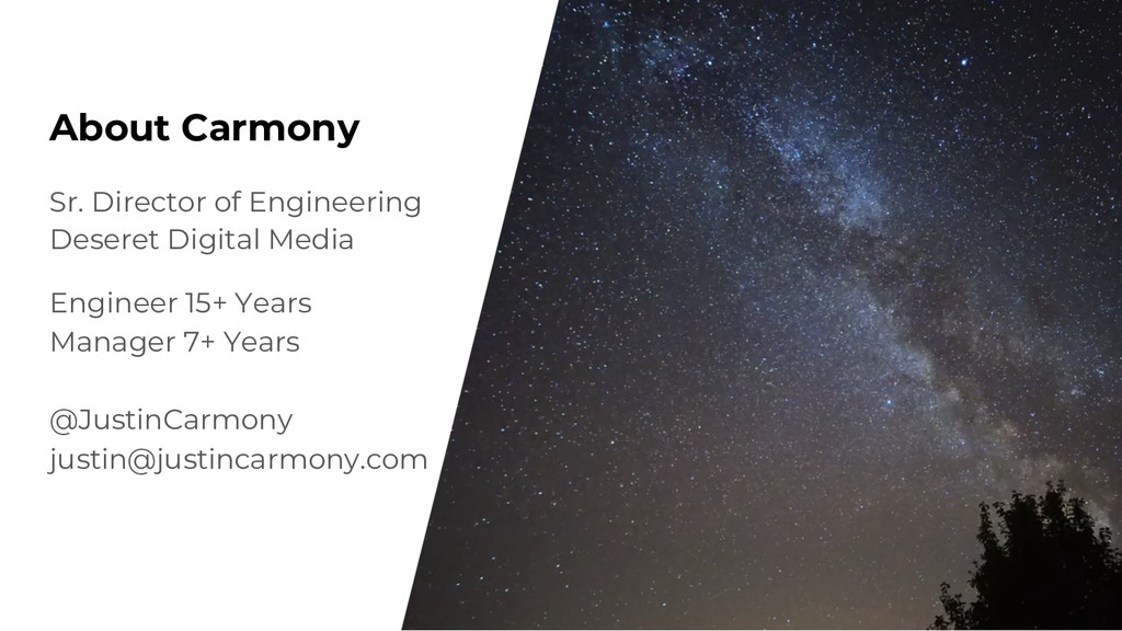 About Carmony Sr. Director of Engineering Deser...