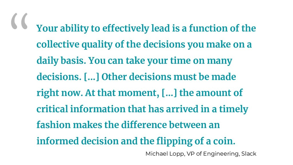 """Your ability to effectively lead is a function..."