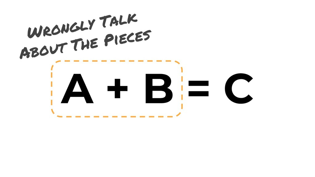 A + B = C Wrongly Talk About The Pieces