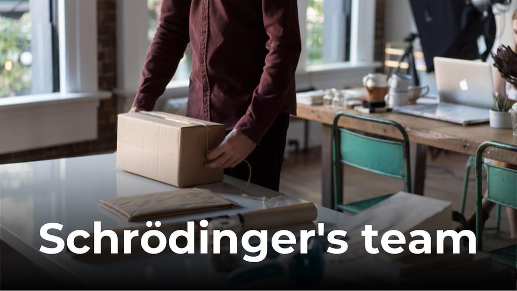 Schrödinger's team