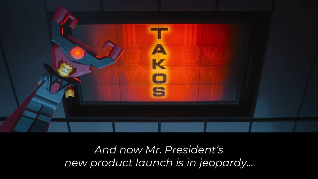And now Mr. President's new product launch is i...