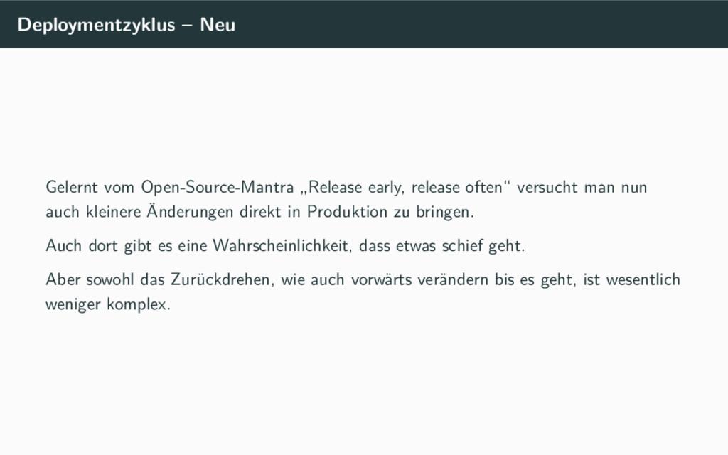 Deploymentzyklus – Neu Gelernt vom Open-Source-...