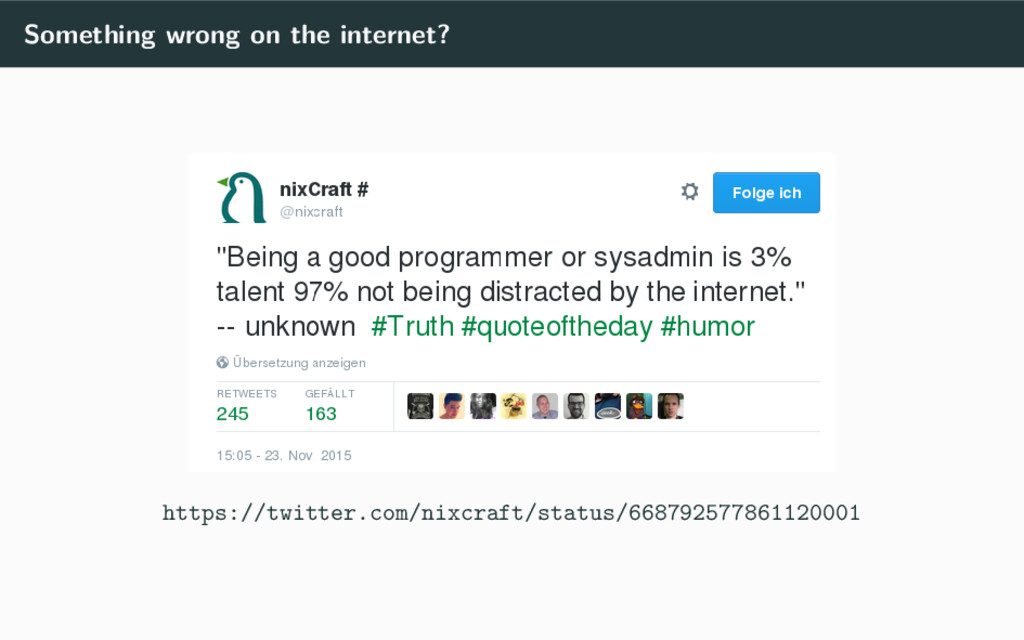 Something wrong on the internet? https://twitte...
