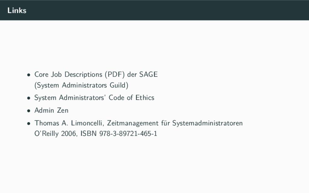 Links • Core Job Descriptions (PDF) der SAGE (S...