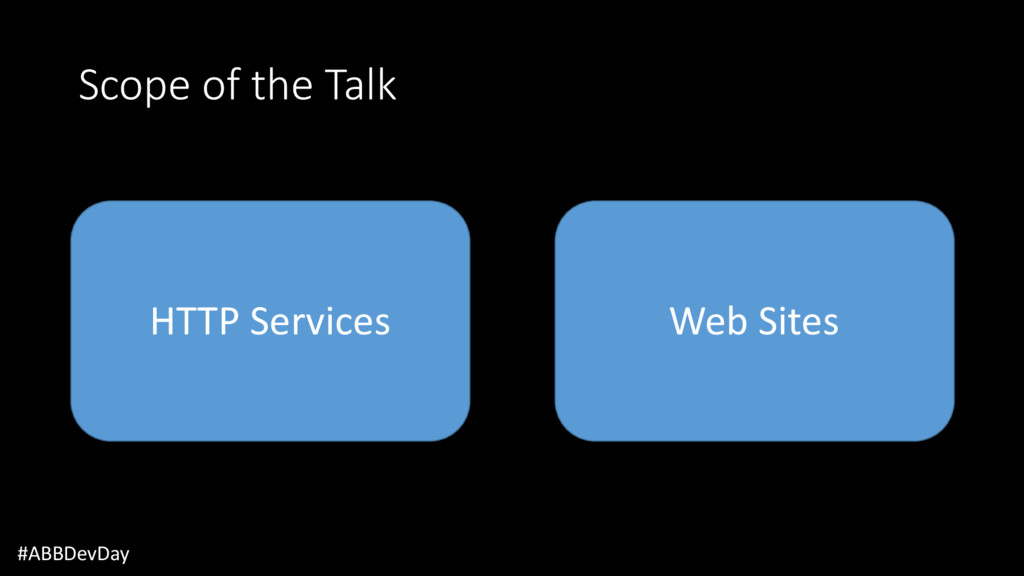 Scope of the Talk #ABBDevDay HTTP Services Web ...