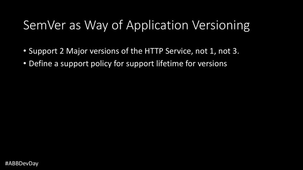 SemVer as Way of Application Versioning • Suppo...