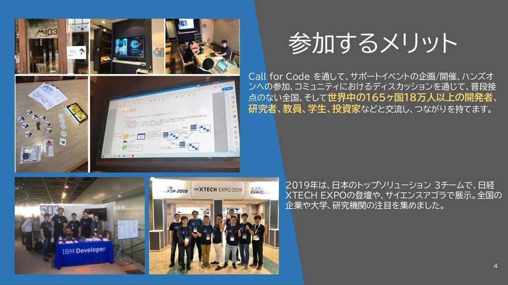 参加するメリット 2019年は、日本のトップソリューション 3チームで、日経 XTECH EX...