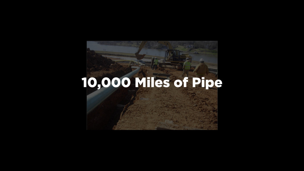 10,000 Miles of Pipe