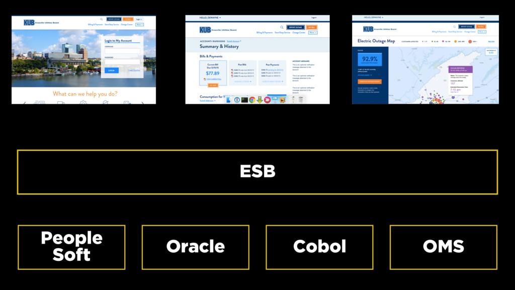 ESB People Soft Oracle Cobol OMS