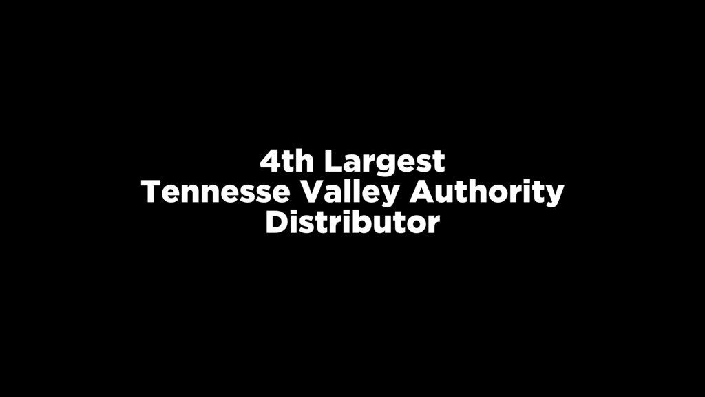 4th Largest Tennesse Valley Authority Distribut...