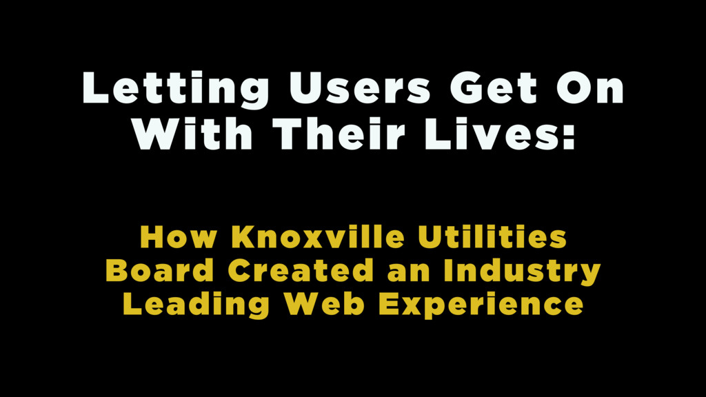 How Knoxville Utilities Board Created an Indust...