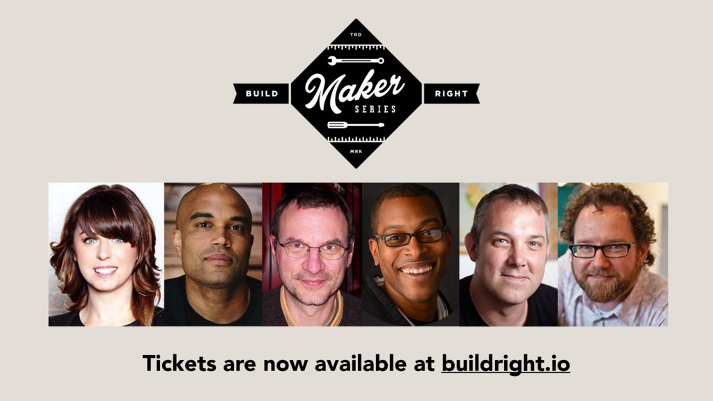 Tickets are now available at buildright.io