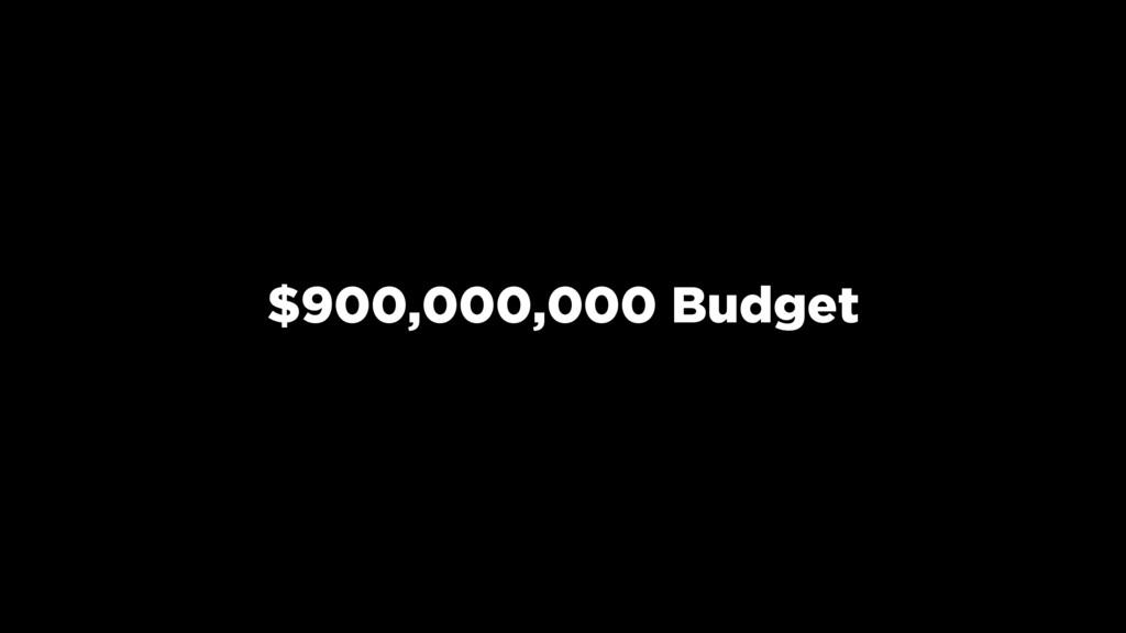 $900,000,000 Budget