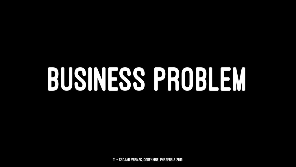 BUSINESS PROBLEM 11 — Srdjan Vranac, Code4Hire,...