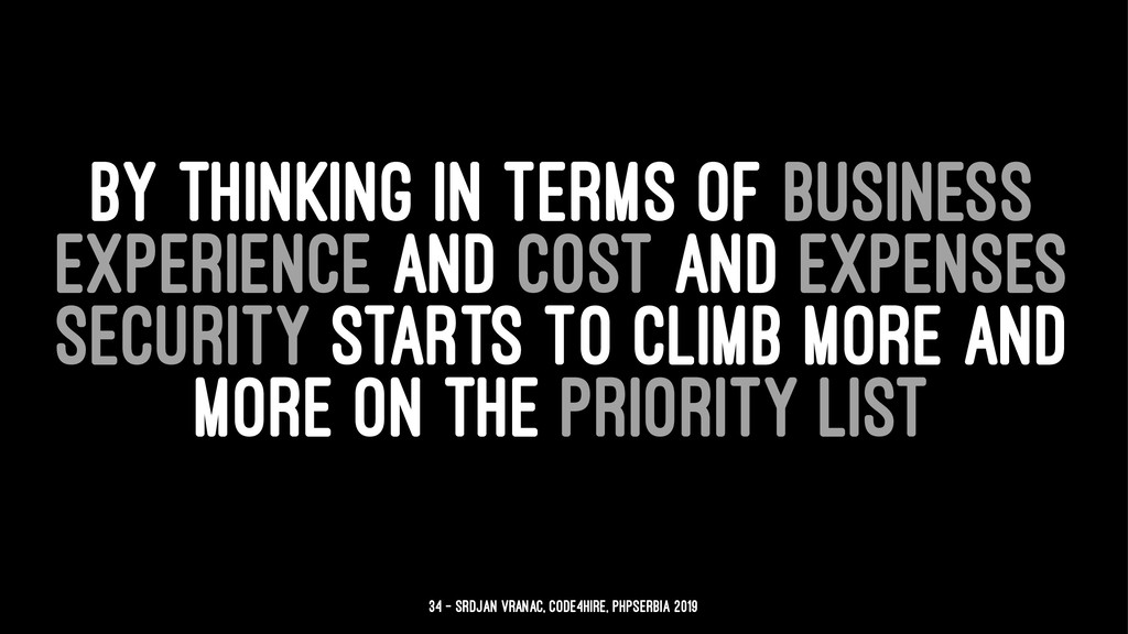 BY THINKING IN TERMS OF BUSINESS EXPERIENCE AND...