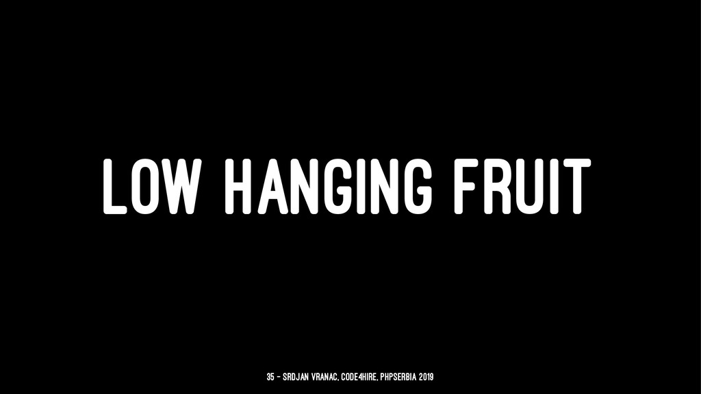 LOW HANGING FRUIT 35 — Srdjan Vranac, Code4Hire...