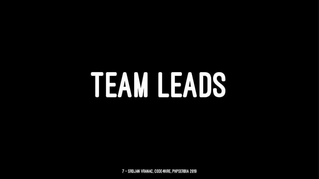 TEAM LEADS 7 — Srdjan Vranac, Code4Hire, PHPSer...