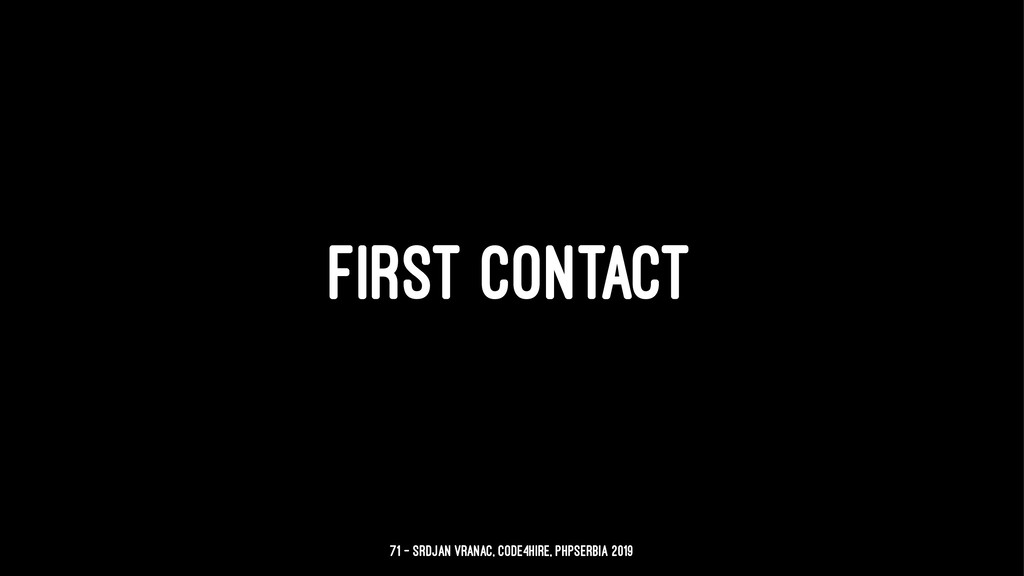FIRST CONTACT 71 — Srdjan Vranac, Code4Hire, PH...