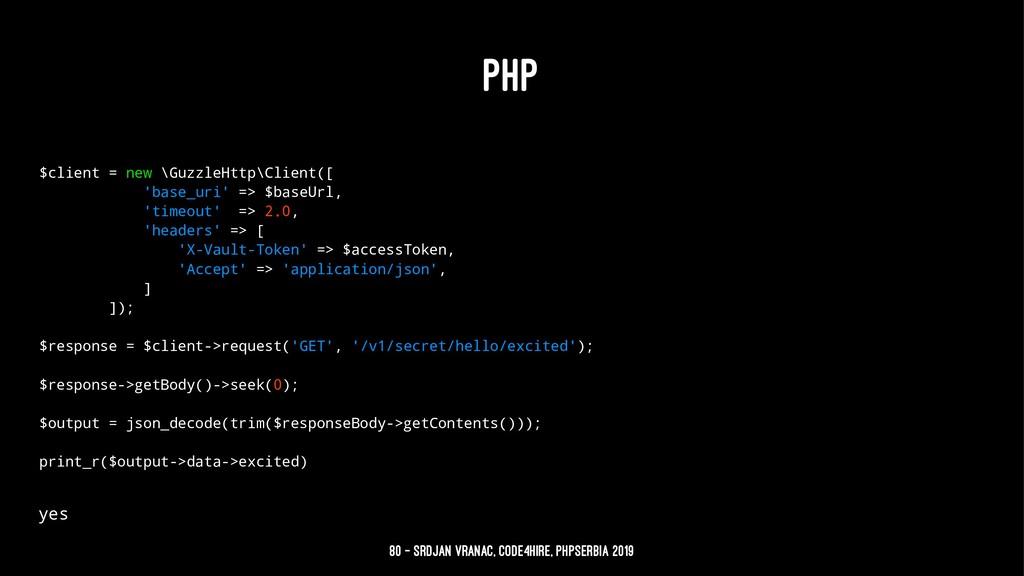 PHP $client = new \GuzzleHttp\Client([ 'base_ur...