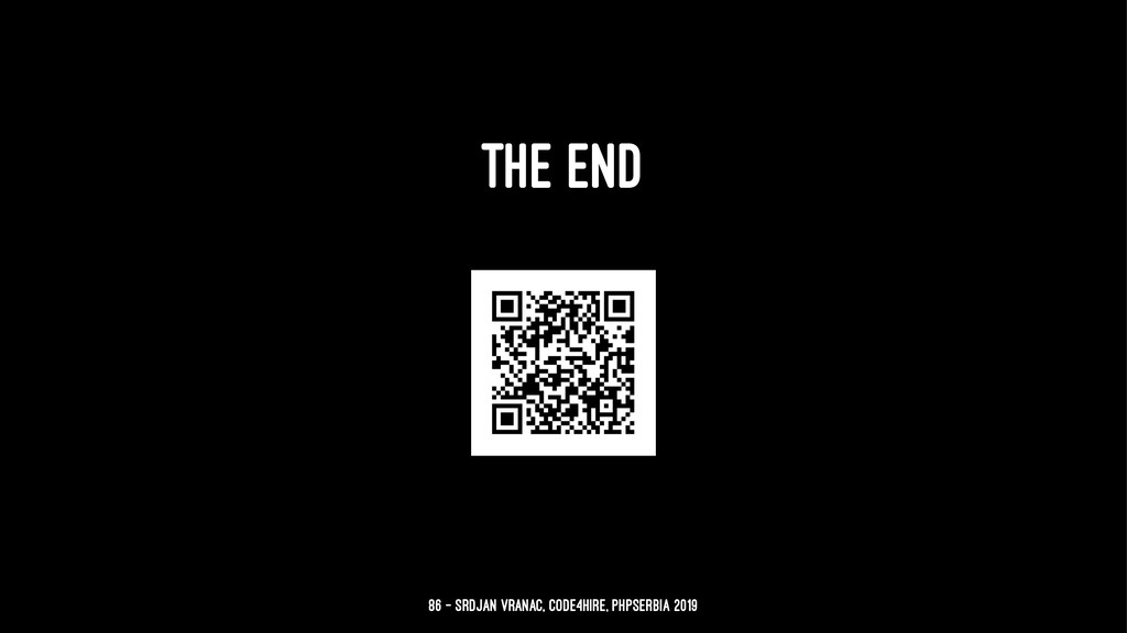 THE END 86 — Srdjan Vranac, Code4Hire, PHPSerbi...