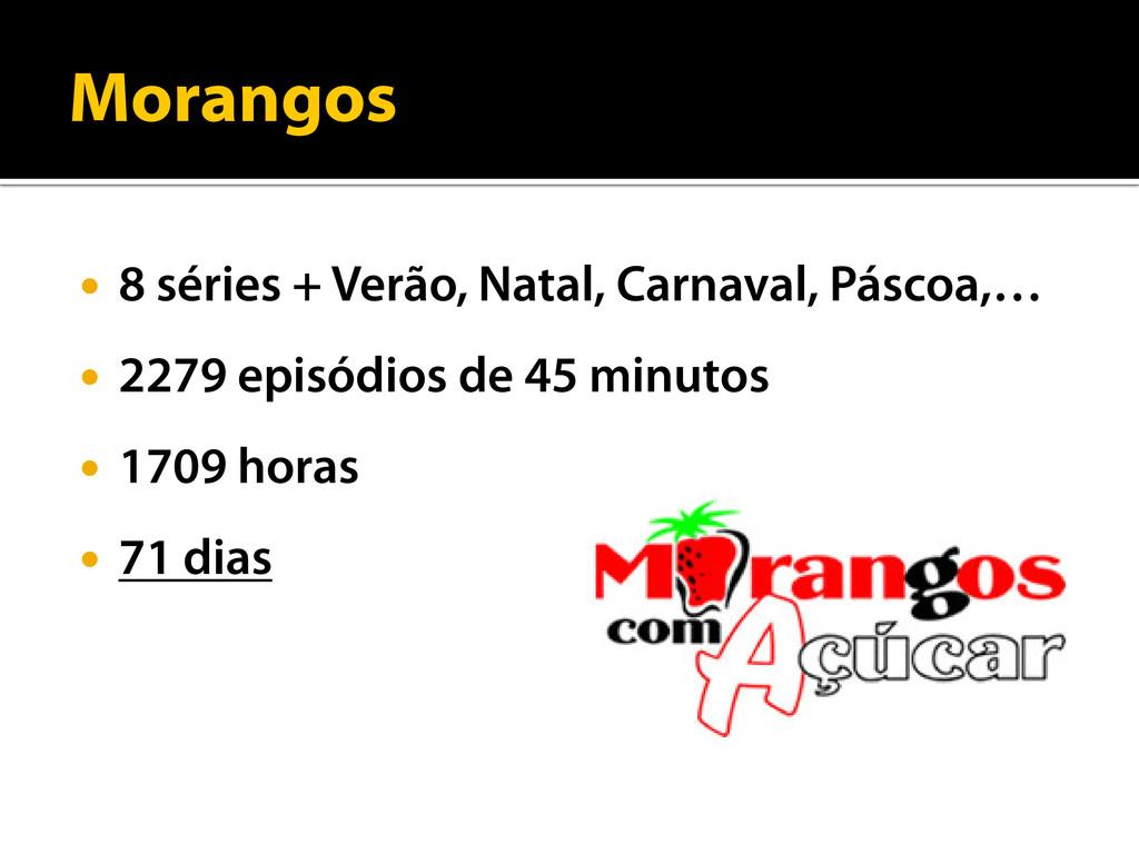 Morangos  8 séries + Verão, Natal, Carnaval, P...