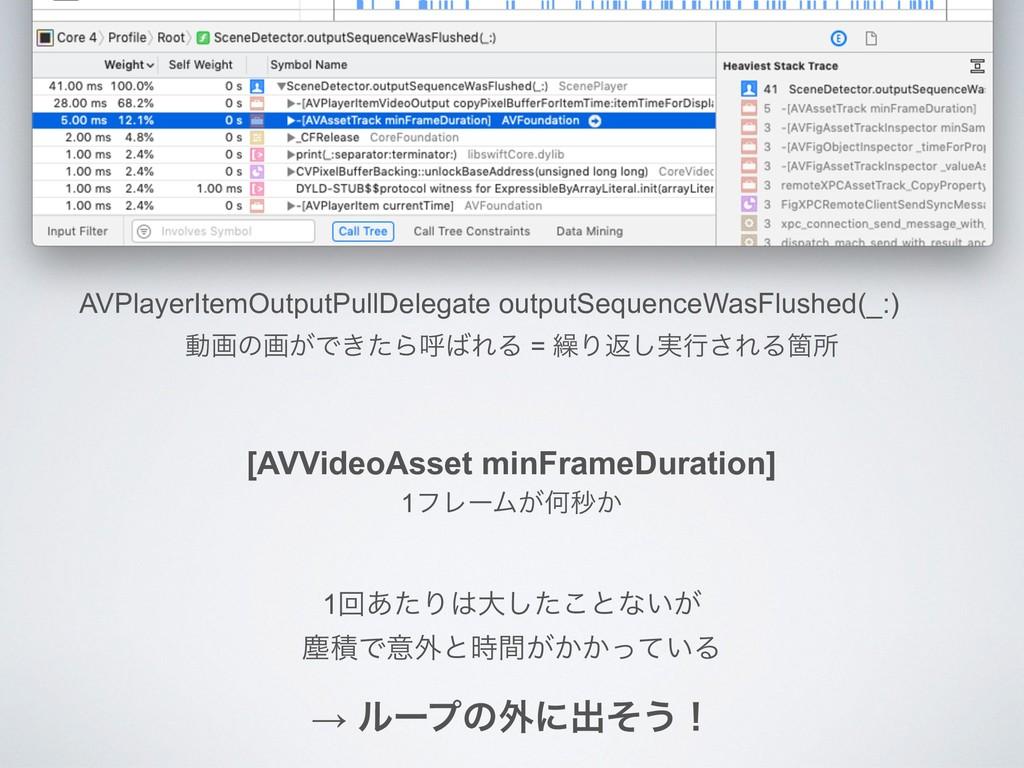 AVPlayerItemOutputPullDelegate outputSequenceWa...