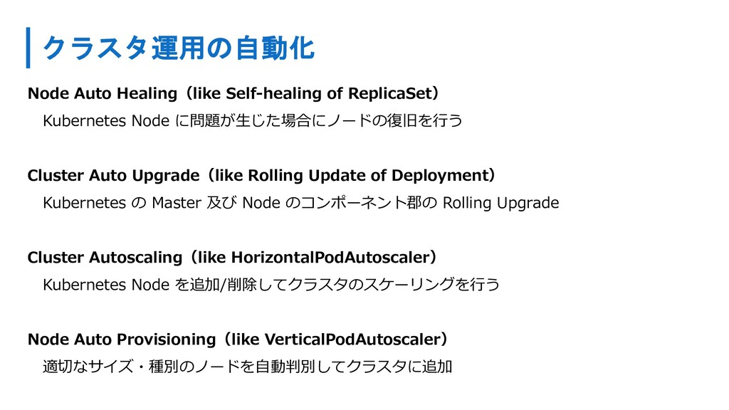 クラスタ運用の自動化 Node Auto Healing(like Self-healing ...