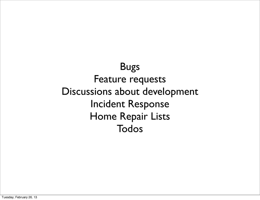 Bugs Feature requests Discussions about develop...