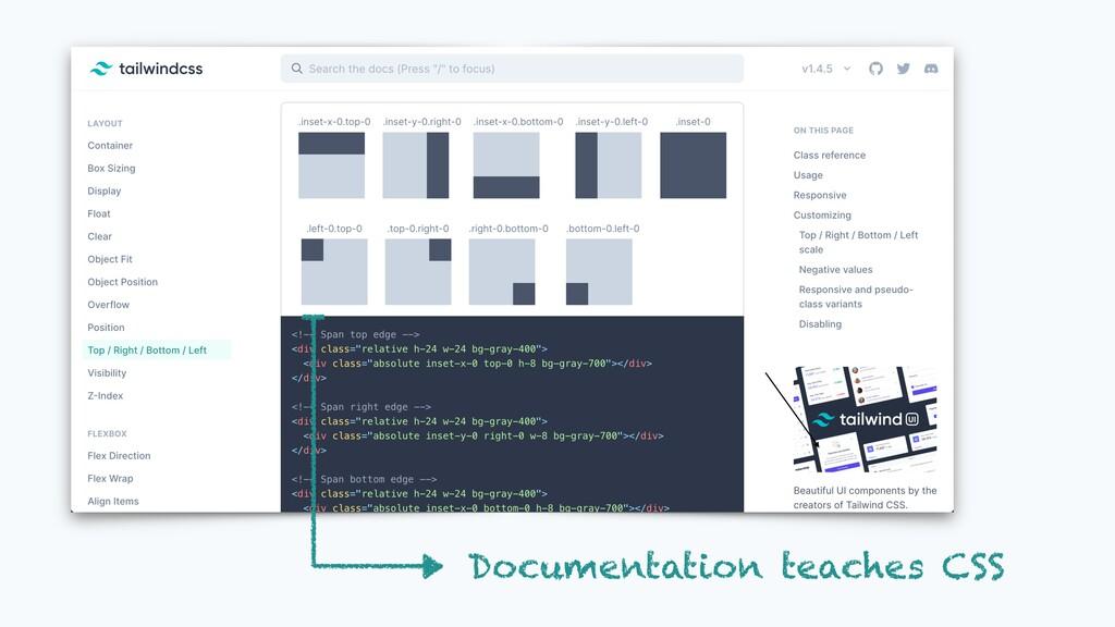 Documentation teaches CSS