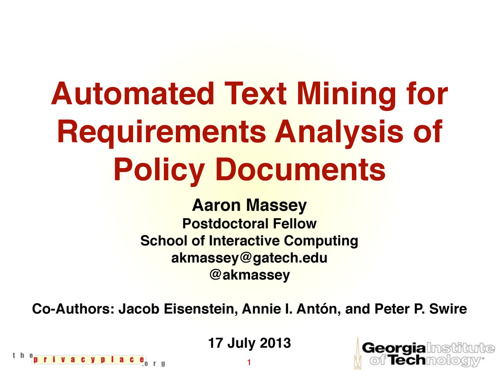 Automated Text Mining for Requirements Analysis...