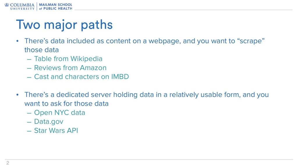 2 • There's data included as content on a webpa...