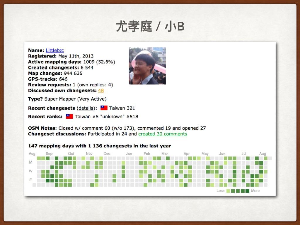 尤孝庭 / ⼩小B