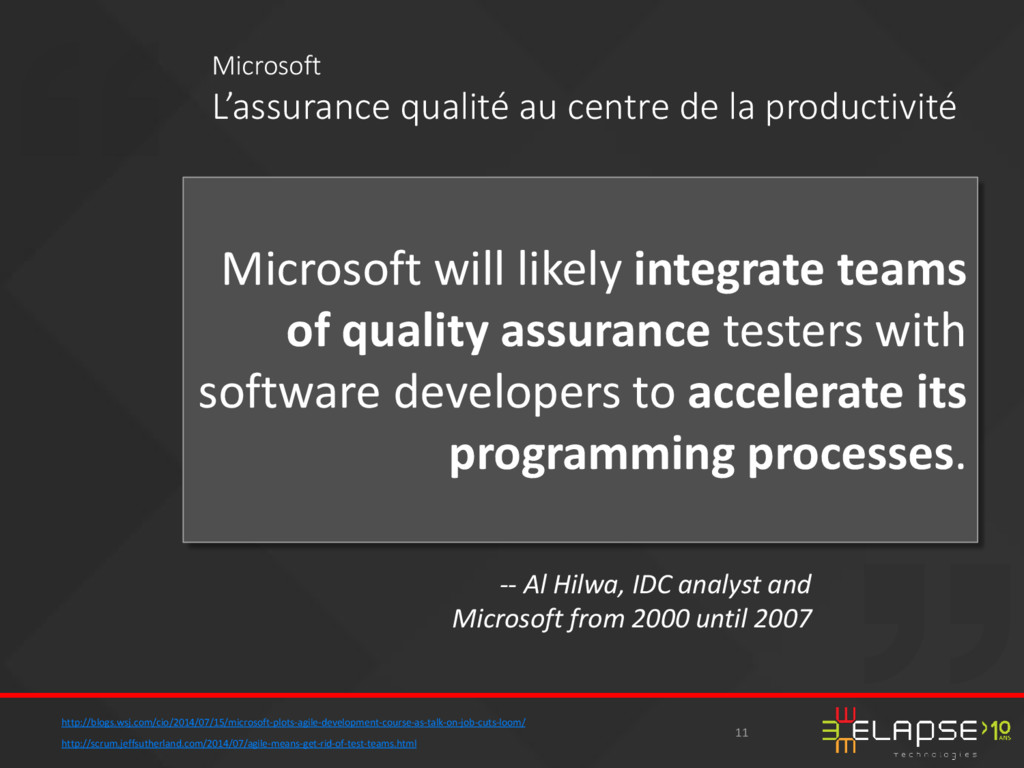 Microsoft will likely integrate teams of qualit...