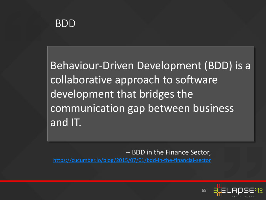 Behaviour-Driven Development (BDD) is a collabo...