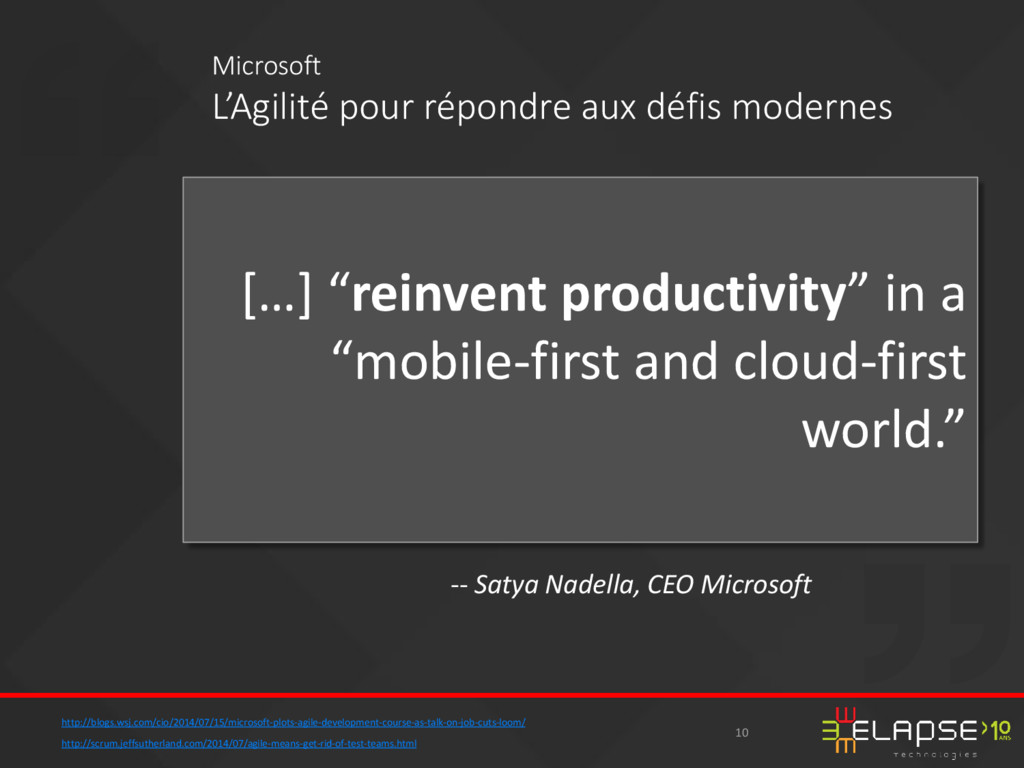"""[…] """"reinvent productivity"""" in a """"mobile-first ..."""