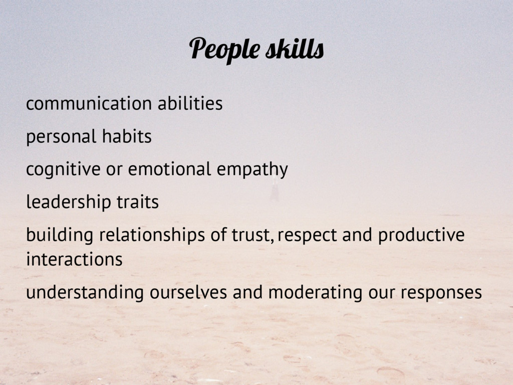 People skills communication abilities personal ...