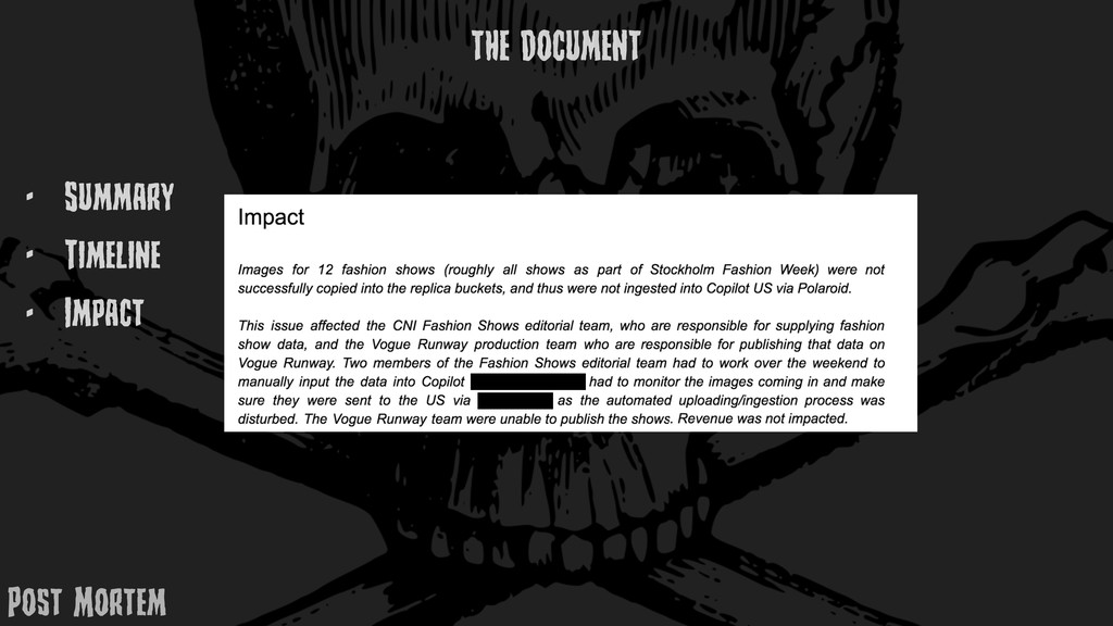 - Summary - TimElinE - Impact THE DOCUMENT Post...