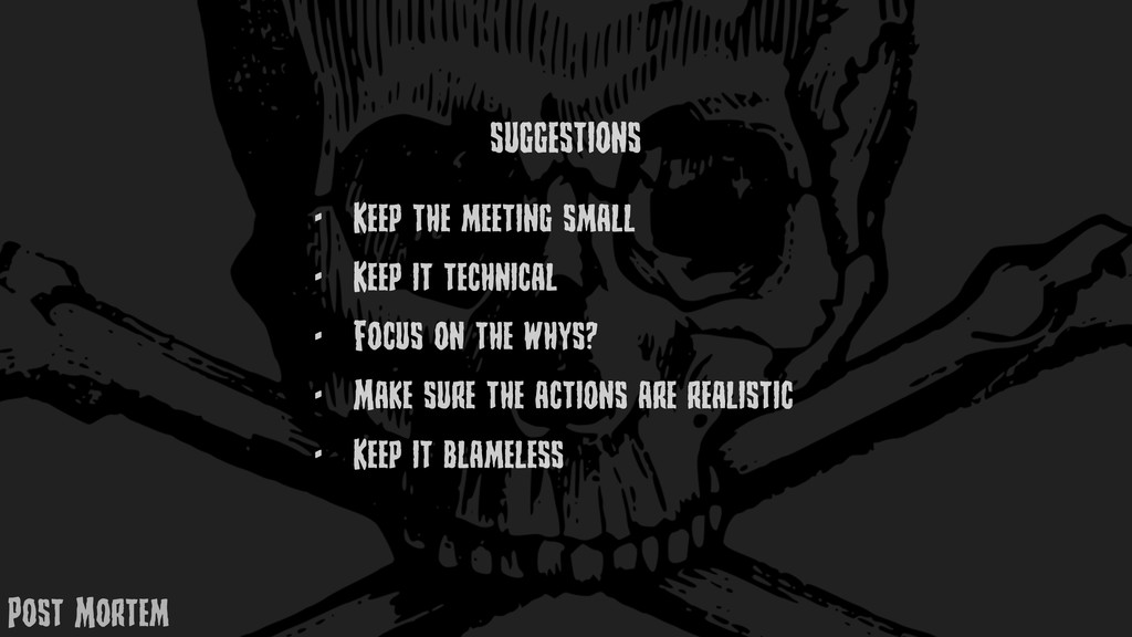 - KEEp thE mEEting small - KEEp it tEchnical - ...