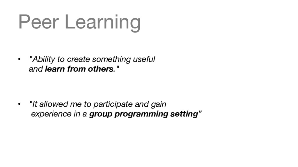 """Peer Learning • """"Ability to create something ..."""
