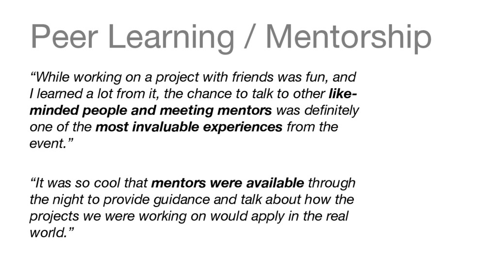 """Peer Learning / Mentorship """"While working on a..."""