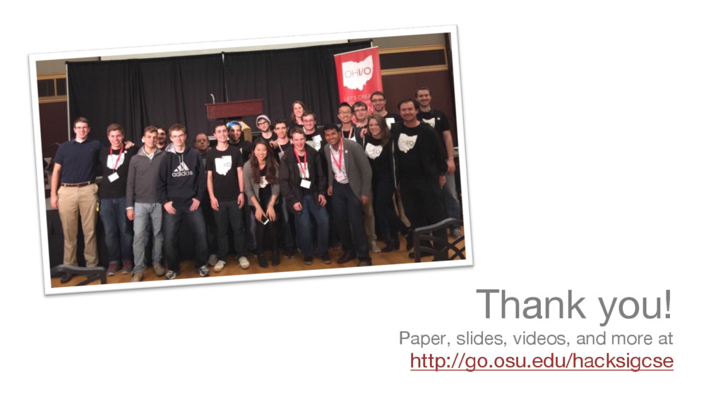Thank you! Paper, slides, videos, and more at ...