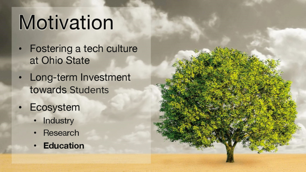 Motivation • Fostering a tech culture at Ohi...