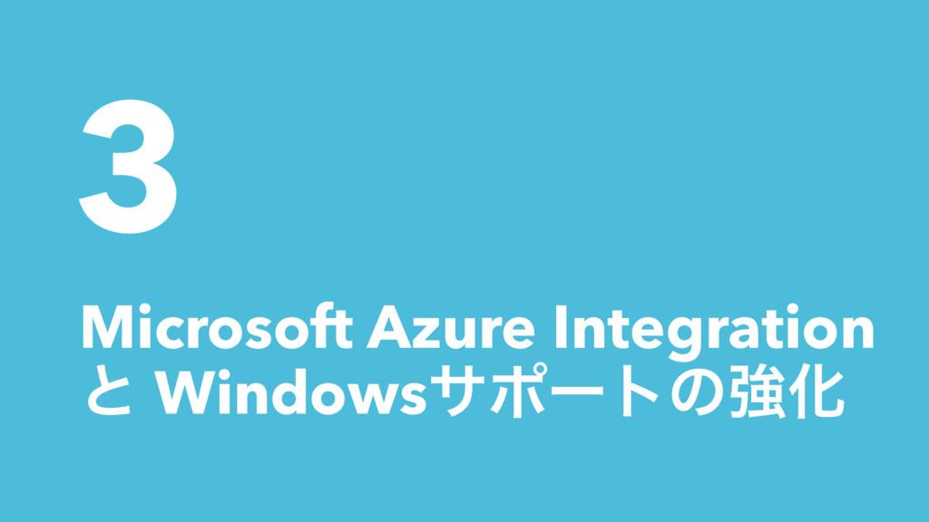 3 Microsoft Azure Integration ͱ WindowsαϙʔτͷڧԽ