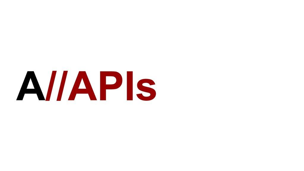 A//APIs