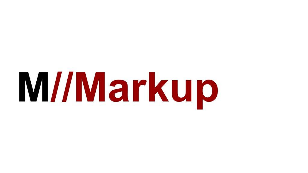 M//Markup