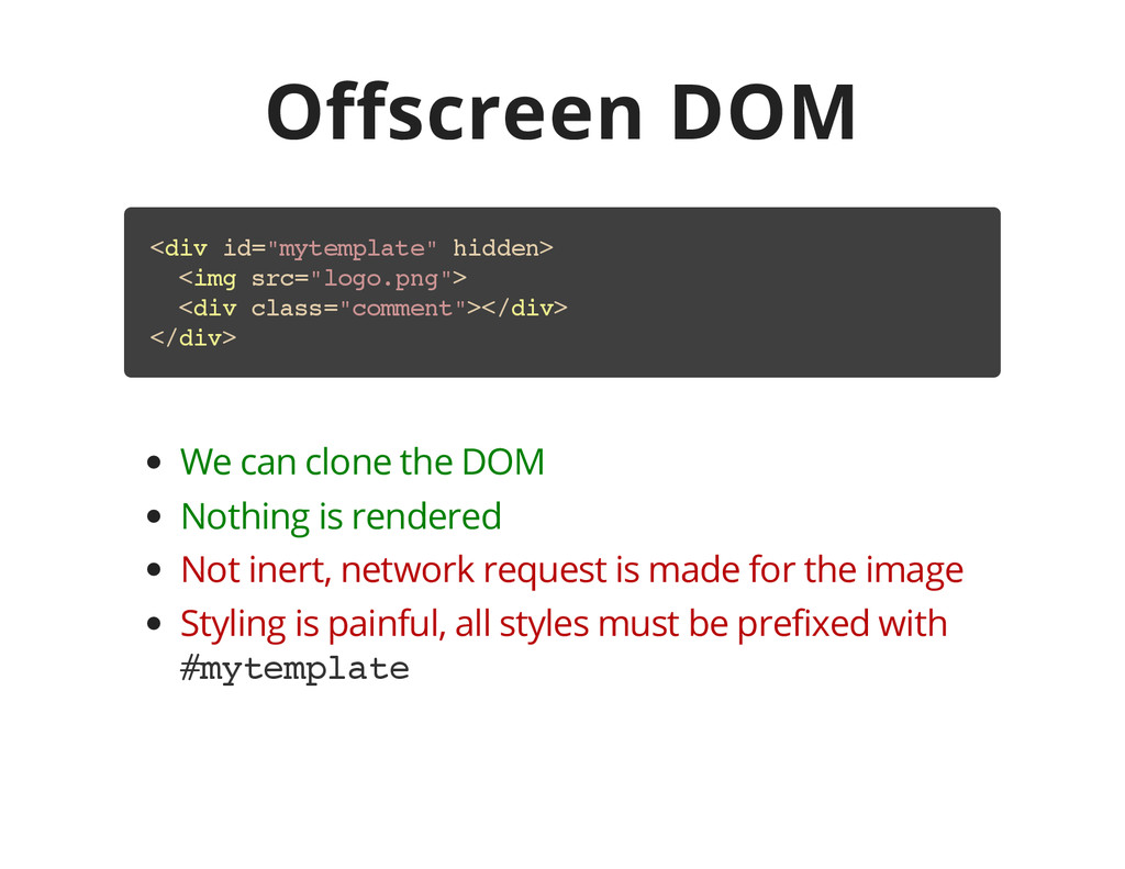 "Offscreen DOM < d i v i d = "" m y t e m p l a t..."