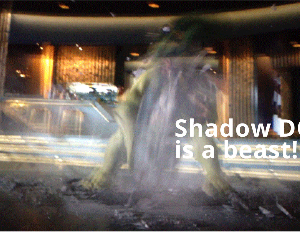 Shadow DO is a beast!